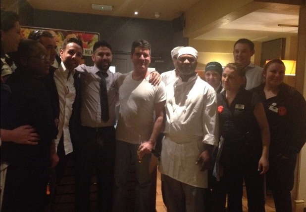 Simon Cowell has dinner with Stevi Ritchie at The Harvester - 27 Oct 2014