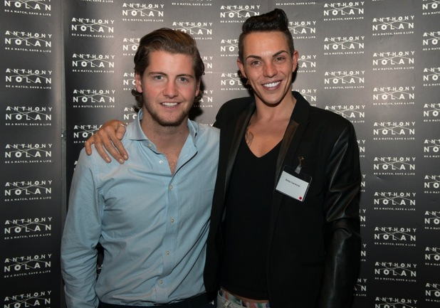 Bobby Norris and Stevie Johnson at the Anthony Nolan Supporters Awards, House Of Commons, London 27 October