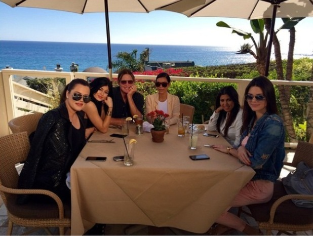 Kim Kardashian and sisters join Bruce Jenner for a birthday meal in Malibu - 30 Oct 2014