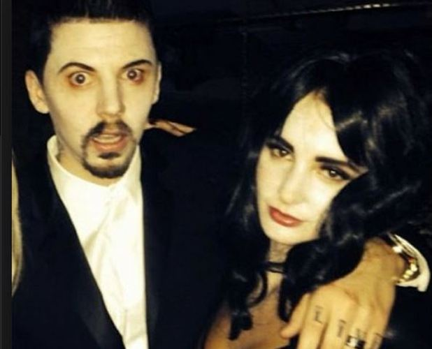 millie mackintosh and professor green show off Halloween outfits