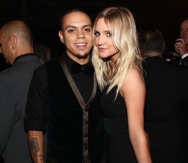 Ashlee Simpson and Evan Ross at the amfAR Inspiration Gala, Los Angeles, America - 29 Oct 2014.