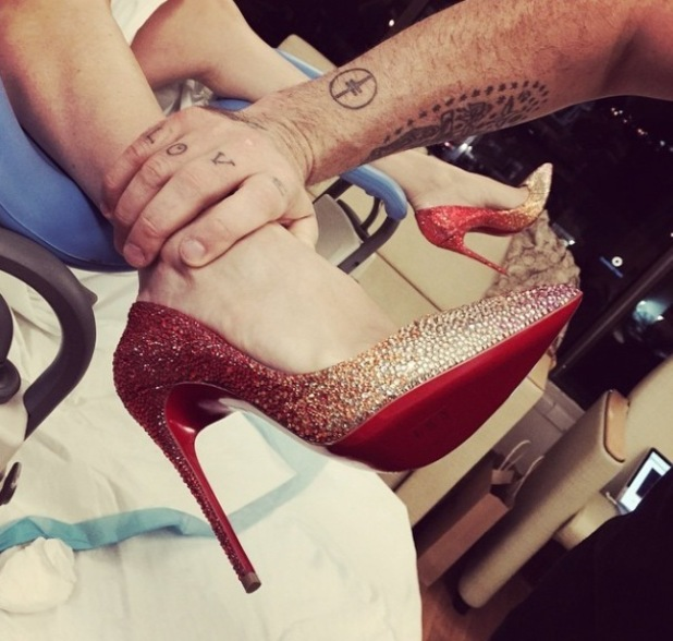 Robbie Williams and wife Ayda welcome a baby boy - 27 Oct 2014
