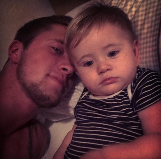 TOWIE's Dan Osborne shares new snap of baby Teddy - 29 October 2014.
