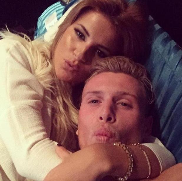 TOWIE's Georgia Kousoulou, Tommy Mallet cuddle up together cute snap - 27 October.