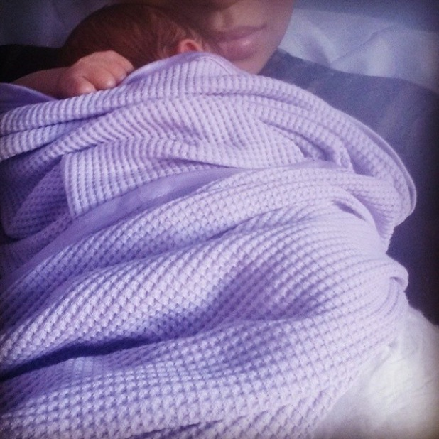Rebecca Ferguson shares first picture of baby Arabella - 29 Oct 2014
