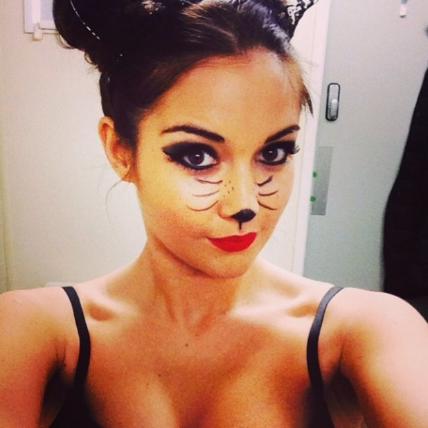 Jacqueline Jossa gets ready for Halloween - 28 October 2014