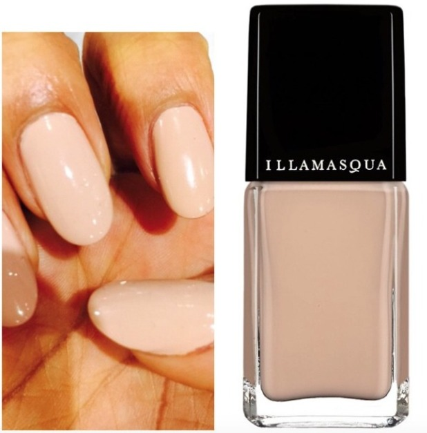 Rochelle Humes shows off her favourite nude Illamasqua Nail Polish in Monogamous, 26 October 2014