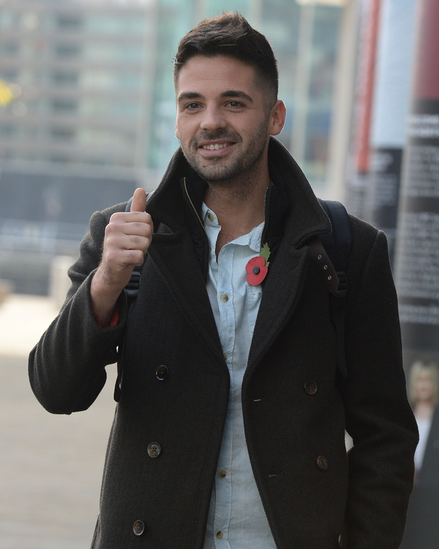 Ben Haenow leaving the BBC Studios after appearing on BBC Breakfast in Media City 10/29/2014 Manchester, United Kingdom