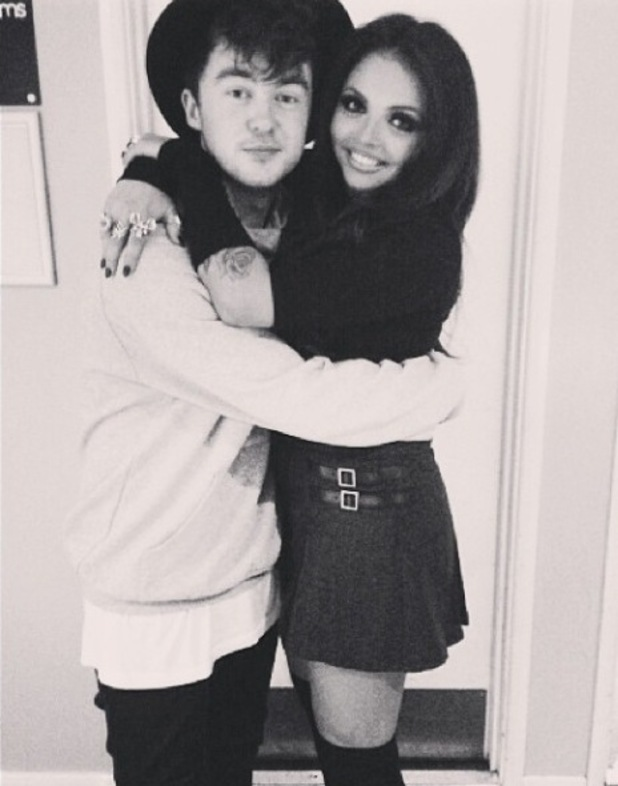 Little Mix singer Jesy looks happy after cuddling up to boyfriend and Rixton vocalist Jake Roche - 29 October.