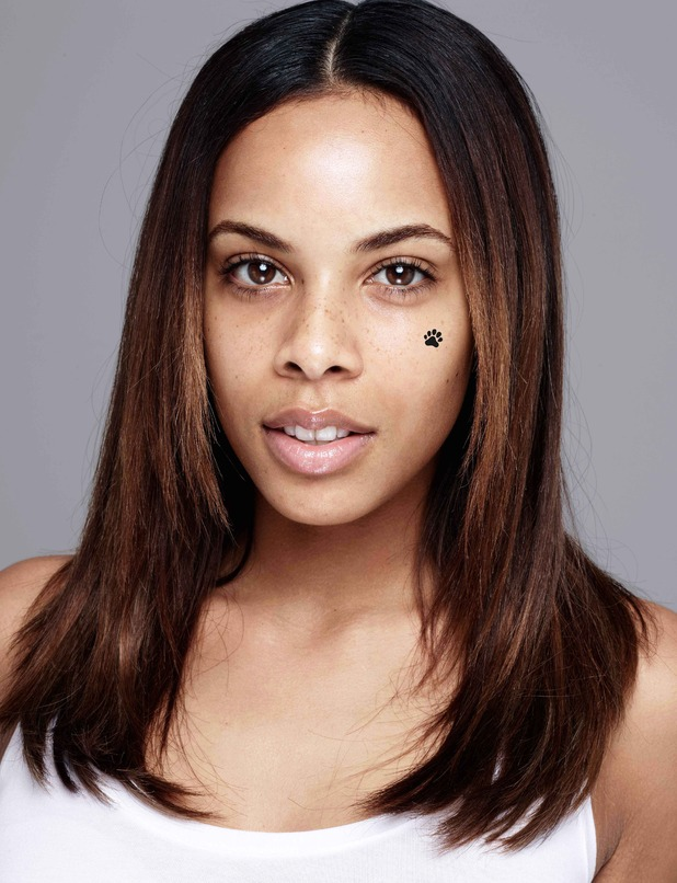 Rochelle Humes poses with no make-up for Children In Need 31 October