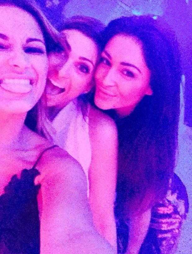 Luisa Zissman poses with Sam Faiers and Casey Batchelor at her engagement party! 1 November 2014