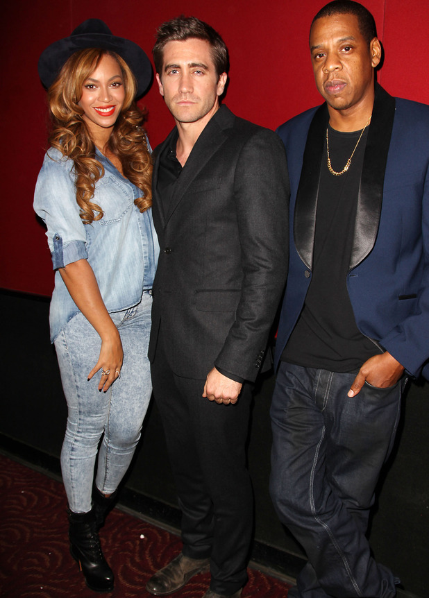 Beyonce Knowles, Jake Gyllenhaal and Jay Z at 'Nightcrawler' film premiere, New York, America - 27 Oct 2014.