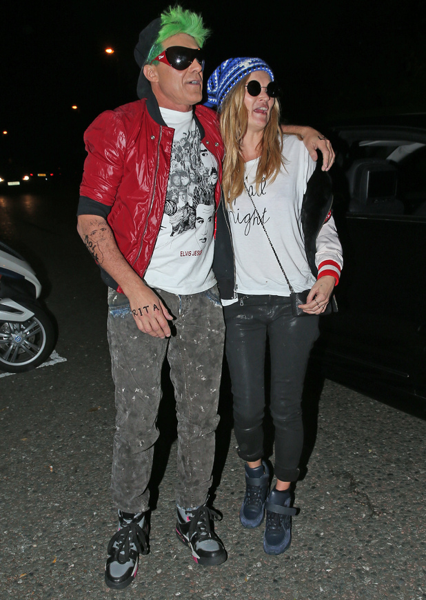 Kate Moss and husband Jamie Hince attend Jonathan Ross' annual Halloween party, 31 October 2014