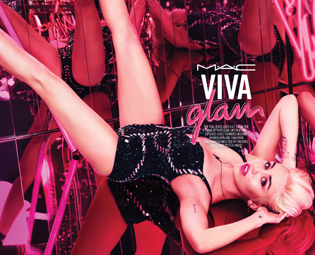 Miley Cyrus Viva Glam for MAC campaign shot
