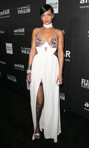 Rihanna at amfAR Inspiration Gala on 29 October 2014