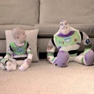 Tom Fletcher and son Buzz dress up as Buzz Lightyear - 3 November 2014
