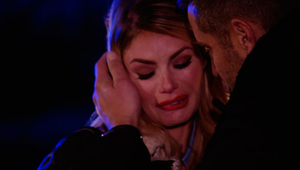 TOWIE's Chloe Sims cries after meeting with Elliott Wright at bonfire night party, episode airing 5 November 2014