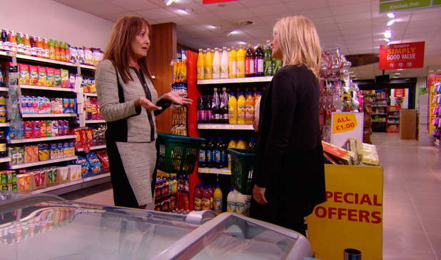 TOWIE: Carol Wright and Jan Rayment bump into each other at supermarket, episode airing 5 November 2014