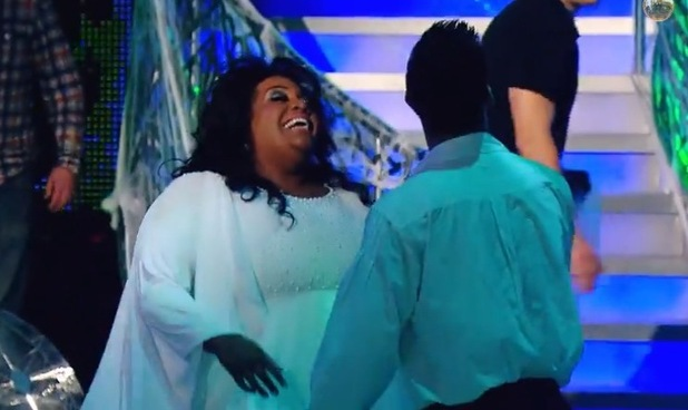 Strictly Come Dancing's Alison Hammond has a laughing fit - 6 Nov 2014