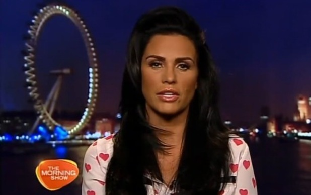 Katie Price speaks to Australia's Channel 7 about money - 7 Nov 2014