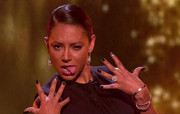 X Factor judges Mel B, Louis Walsh - 2 November 2014.