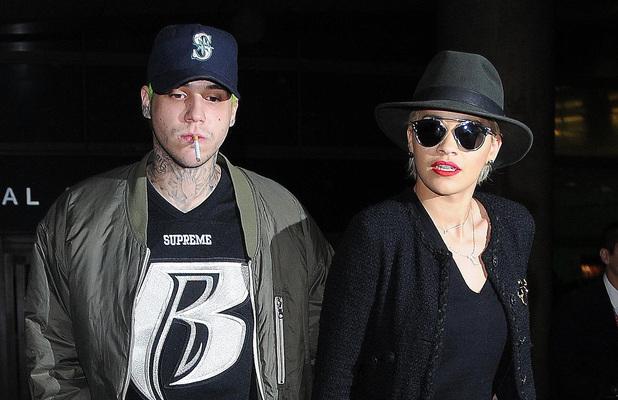 Rita Ora arrives at Los Angeles International (LAX) airport with boyfriend Ricky Hilfiger. 5 November.