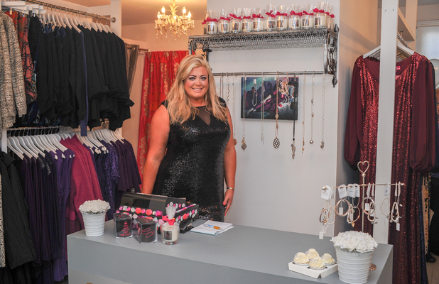 Gemma Collins opens second store in Essex, 8 November 2014