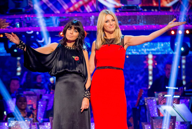 Strictly Come Dancing - Claudia Winkleman and Tess Daly. 01/11/2014.
