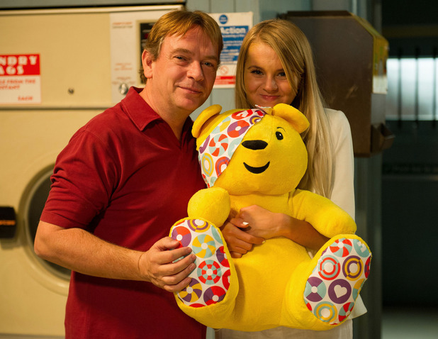 EastEnders BBC Children In Need sketch - The Ghosts of Ian Beale - 14 November 2014. Lucy Beale and Ian Beale.