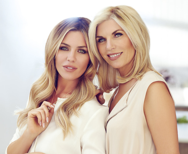 Abbey Clancy and her mum Karen Sullivan star in a campaign for Avon's new perfume Cherish - 4 November 2014