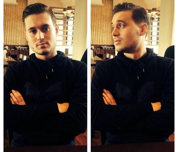 TOWIE's Charlie Sims gets his curtains cut off - 3 November 2014