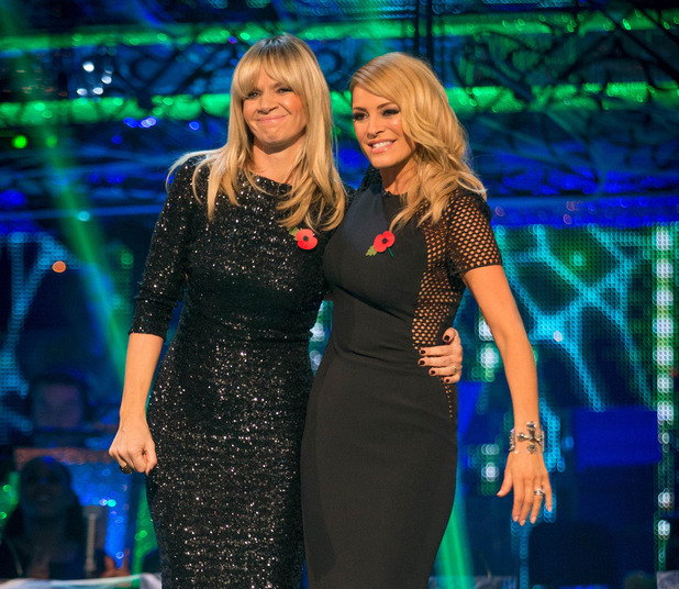 Strictly Come Dancing - Zoe Ball and Tess Daly. 01/11/2014.