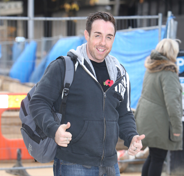X Factor's Stevi Ritchie outside rehearsal studios, London 5 November