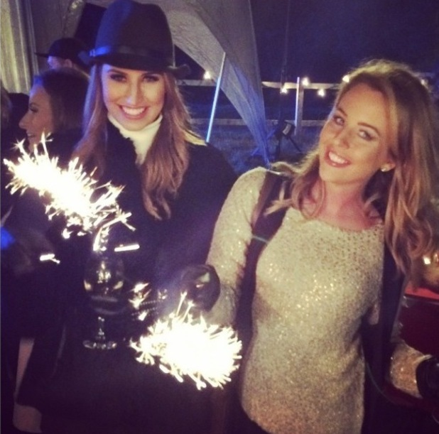 Lydia Bright and Ferne McCann at fireworks display