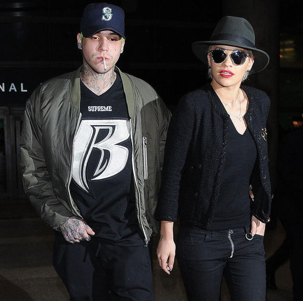Rita Ora arrives at Los Angeles International (LAX) airport with boyfriend Ricky Hilfiger. 5 November.