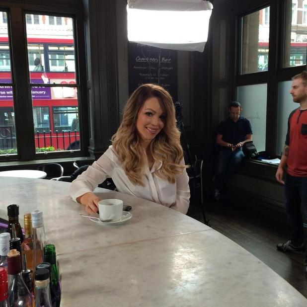 Katie Piper looks uber glam while filming, 8 November 2014