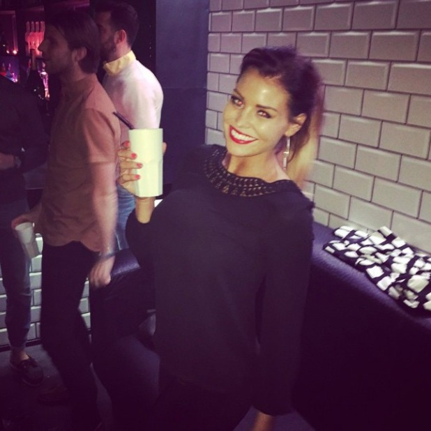 TOWIE's Jessica Wright is all smiles as she enjoys a night out in Essex with pals after painful love split, 7 November 2014