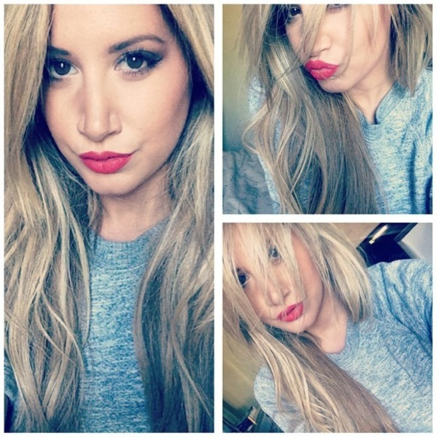 Ashley Tisdale shows off her new hair extensions in an Instagram picture - 5 November 2014