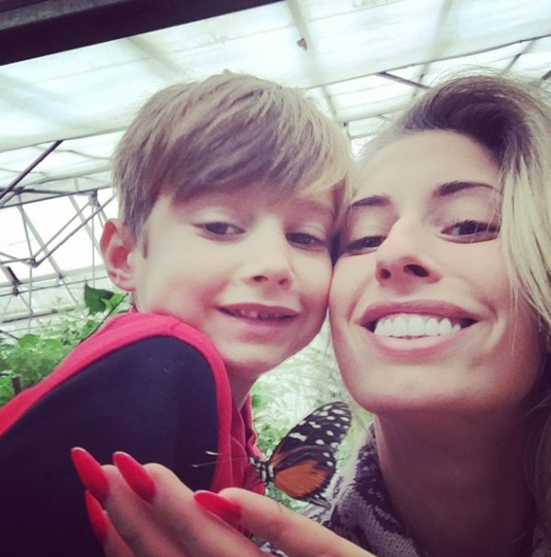 Stacey Solomon has a day out with her son at a butterfly park, 29 October 2014
