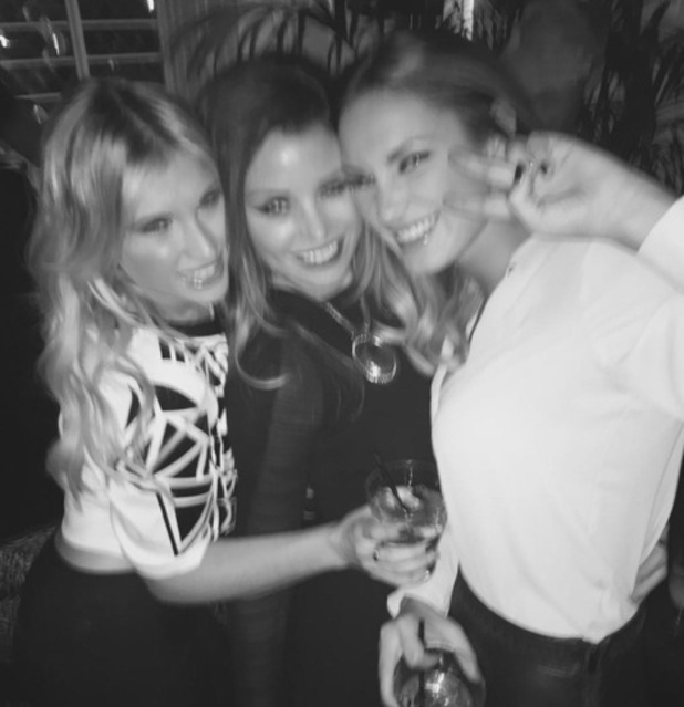 TOWIE Jess Wright, Billie Faiers, Sam Faiers enjoy night out together 5 November