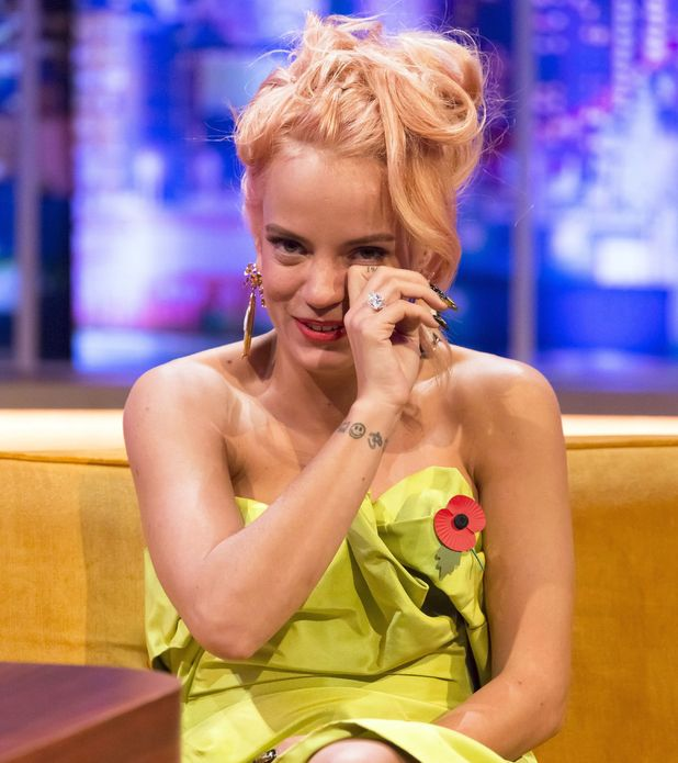 Lily Allen on The Jonathan Ross Show on 8 November 2014.