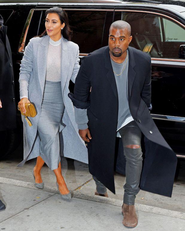 Kim Kardashian and Kanye West, New York - 07 Nov 2014