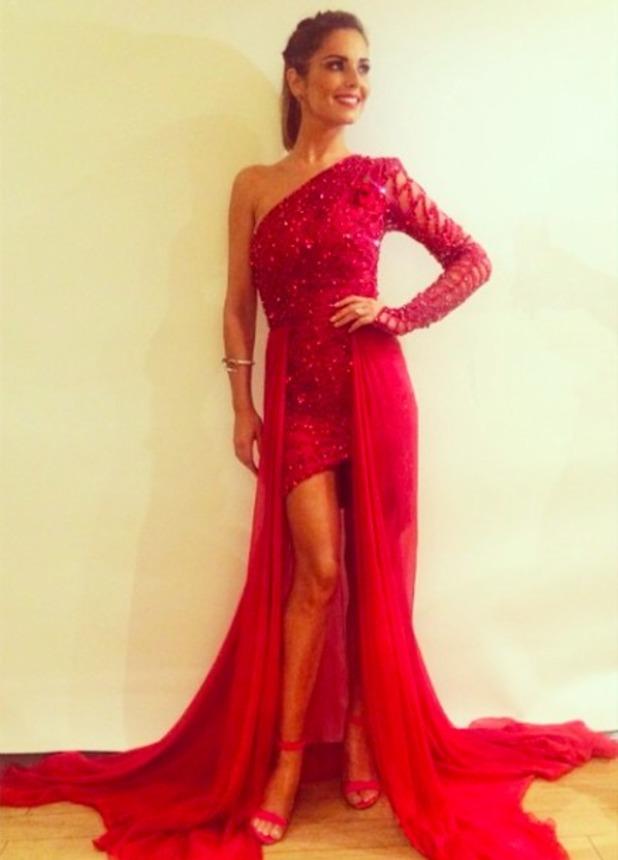 Cheryl Fernandez-Versini shows off stunning dress backstage on The X Factor, 8 November 2014