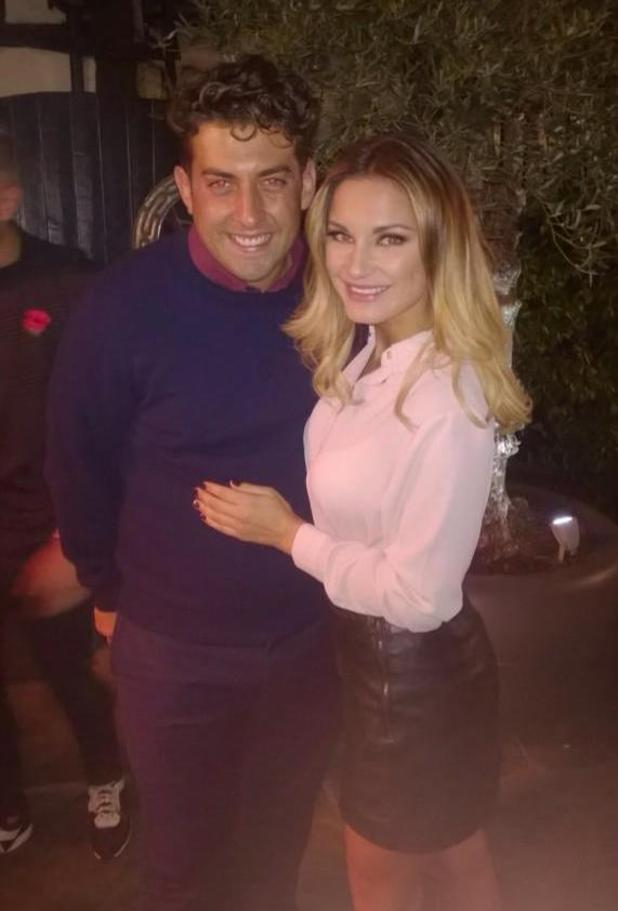 TOWIE's James 'Arg' Argent and Sam Faiers at Sheesh restaurant - 5 November 2014.