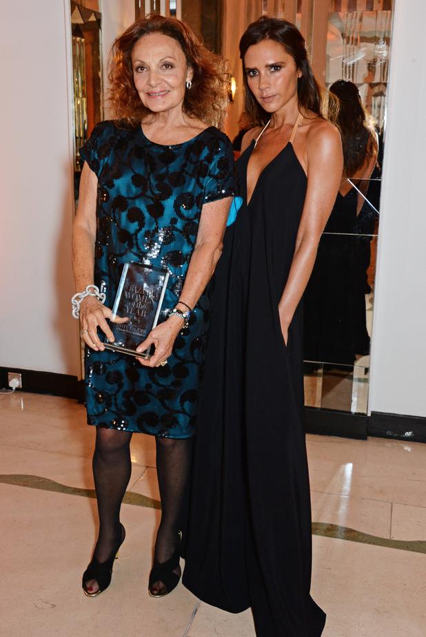 Victoria Beckham and Diane von Fürstenberg at the Harper's Bazaar Women of the Year Awards in London - 4 November 2014