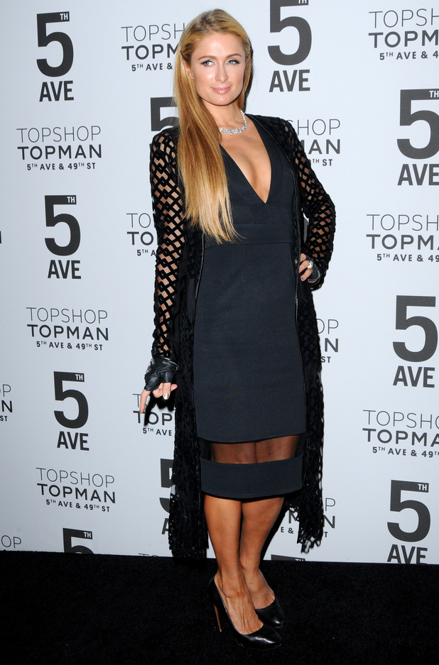 Paris Hilton attends a dinner to celebrate the opening of Topshop's new store on Fifth Avenue in New York - 4 November 2014