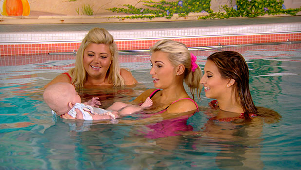 TOWIE: Billie, Gemma and Ferne take baby Nelly swimming on episode airing 5 November 2014