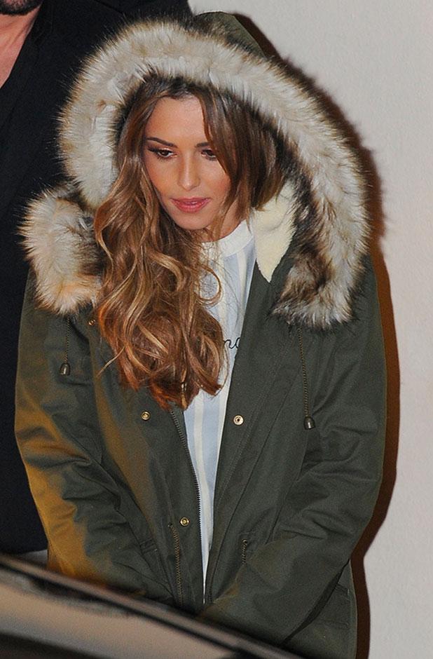 Cheryl Fernandez-Versini, departures from the 'X Factor' studios after the live show, 2 November 2014