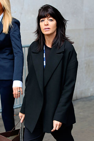 Claudia Winkleman seen at BBC Radio One on September 30, 2014 in London, England. (Photo by Neil P. Mockford/GC Images)