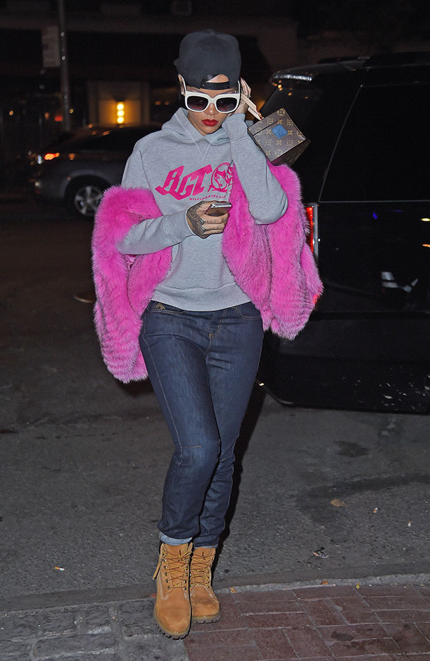 Rihanna is seen on November 5, 2014 in New York City. (Photo by NCP/Star Max/GC Images)